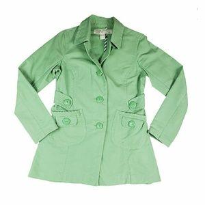 Anthropologie Green Pea Coat
